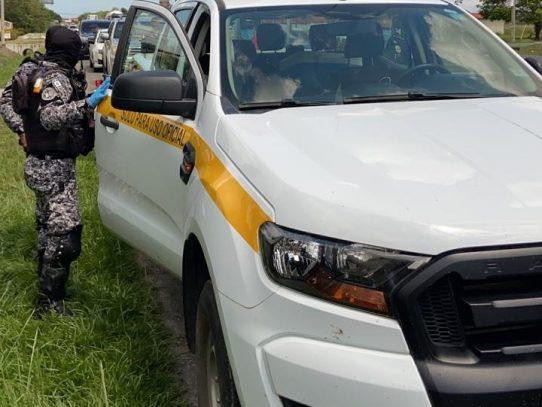 Decomisan presunta droga a bordo de un vehículo de una Junta Comunal