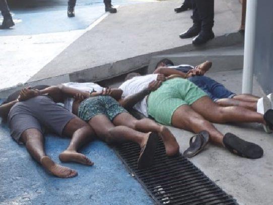 Detienen a cuatro supuestos involucrados en una balacera en Santa Marta, San Miguelito