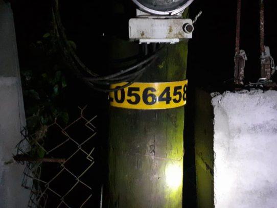 Varios sectores de Arraiján sin luz eléctrica tras las fuertes lluvias