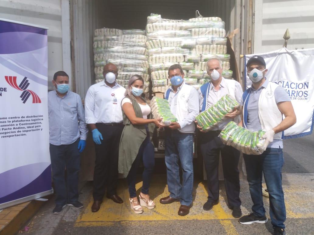 Donan 50 mil libras de arroz para la población más vulnerable de Colón