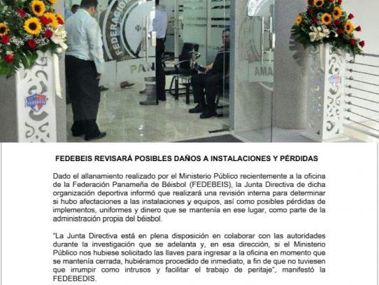 Fedebeis revisará posibles daños y pérdidas tras allanamiento del MP