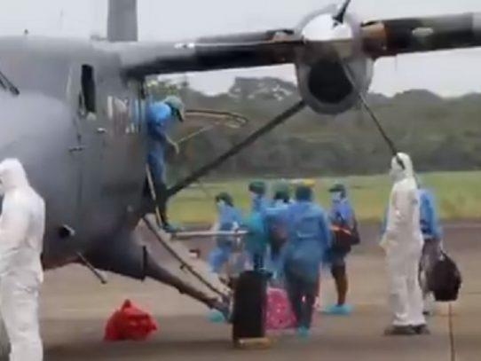 Siete pacientes con coronavirus llegan a Ciudad de Panamá desde Achutupu