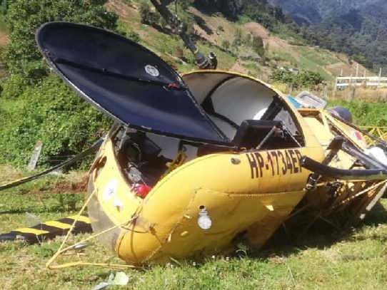 Cae un helicóptero en Las Nubes, Cerro Punta