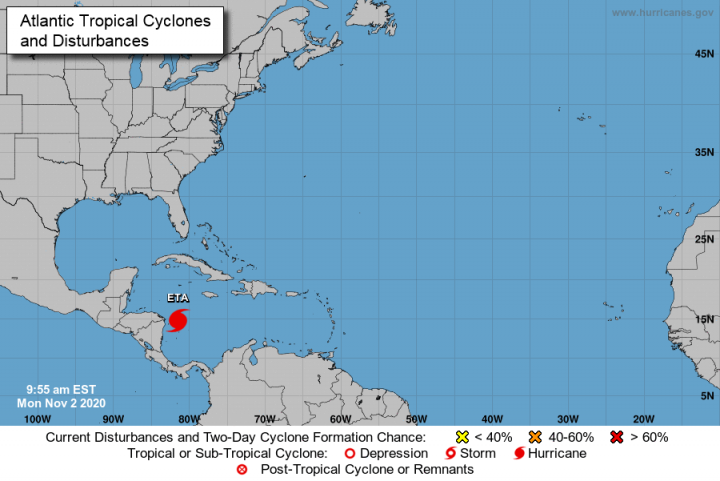 Nicaragua agiliza preparativos ante aproximación de huracán Eta