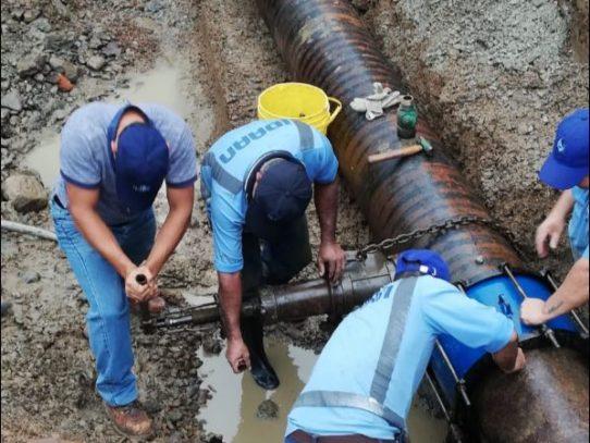 El próximo miércoles, no habrá agua en sectores aledaños a la vía Transístmica
