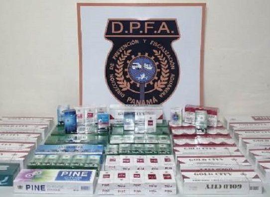 Aduanas decomisa 6 mil 920 unidades de cigarrillos en Chiriquí