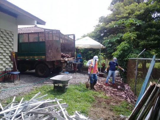 Jornada de limpieza en el IMA de San Pablo Viejo por logística de Panamá Solidario