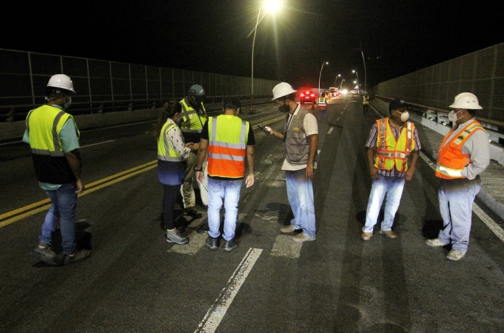 El MOP recibe trabajos de garantía de rehabilitación del Puente de Las Américas