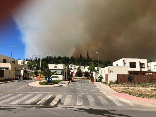 Incendios forestales en Chile afectan región de Valparaíso y obligan a evacuación