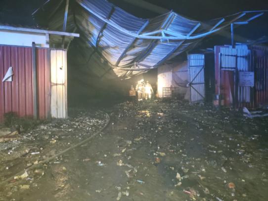 Incendio en galera de Calzada Larga en Chilibre deja tres heridos