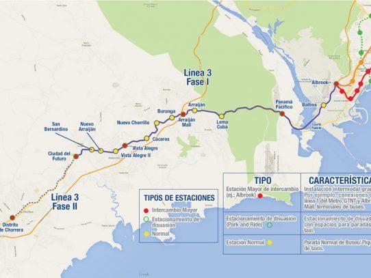 Contraloría refrenda Línea 3 del Metro de Panamá
