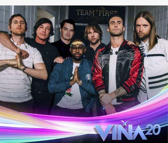 Maroon 5 es confirmado para el Festival de Viña del Mar 2020