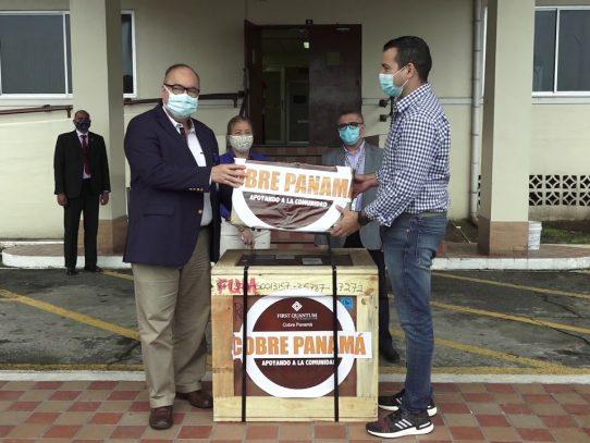 Minera Panamá dona gasómetro para lucha contra el Covid-19