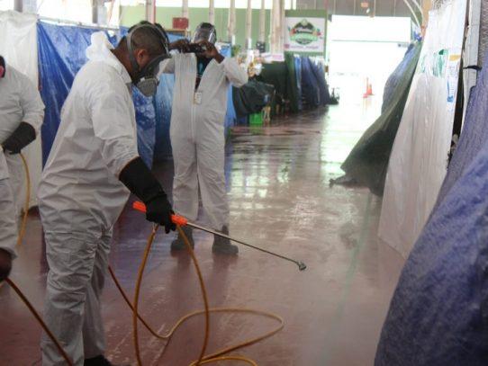 Desinfección en Merca Panamá tras detectar casos positivos de Covid-19