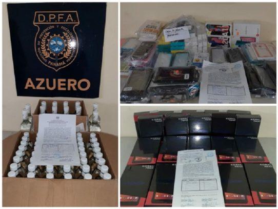 La DPFA retiene celulares, tabletas y mercancía variada en Azuero