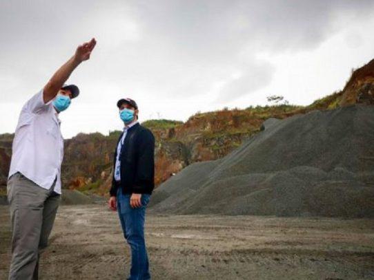 MICI visita proyectos de minería no metálica que está dentro del bloque dos