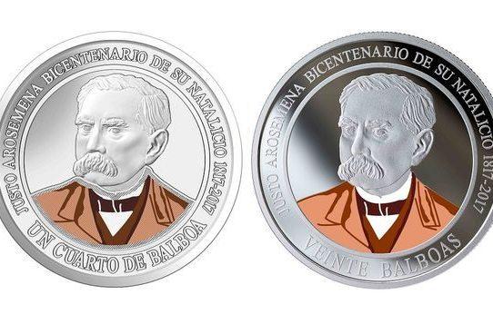 Nuevas monedas en conmemoración al natalicio de Justo Arosemena