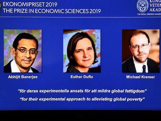 Nobel de Economía a tres estadounidenses por sus trabajos sobre la pobreza