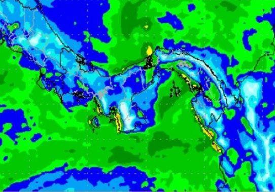 Sinaproc advierte el paso de onda tropical sobre el país