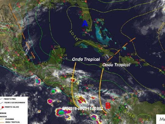 COE emite aviso de prevención por paso de onda tropicales
