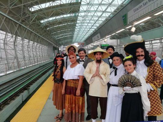La historia viaja en el Metro