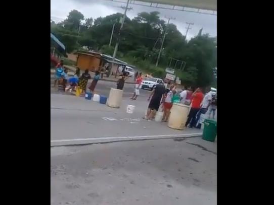 Segundo día de protestas en Nuevo Chorrillo y Chapala por falta de agua