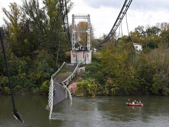 Hundimiento de un puente en Francia fue provocado por un camión demasiado pesado