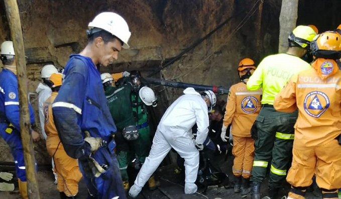 Aumentan a nueve los fallecidos en una explosión minera en Colombia