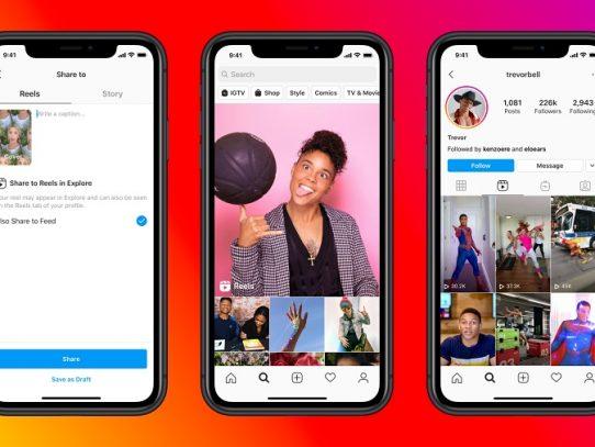 """Facebook desafía a TikTok con """"Reels"""", una nueva función de Instagram"""