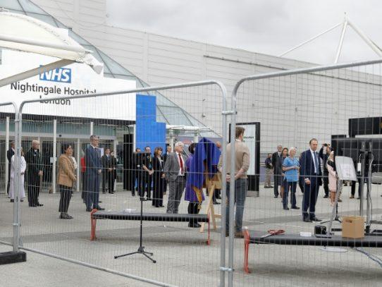 El Reino Unido abre un hospital de campaña con 4.000 camas ante epidemia de coronavirus
