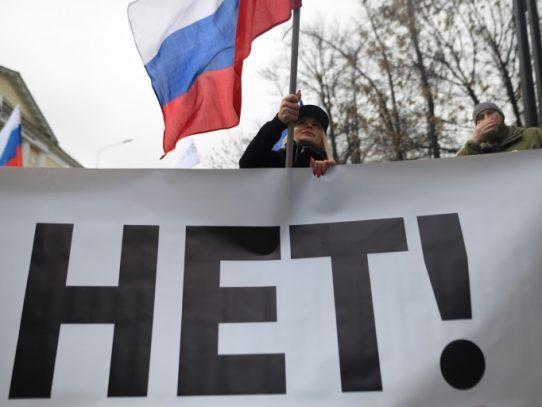 La oposición rusa se manifiesta contra Putin