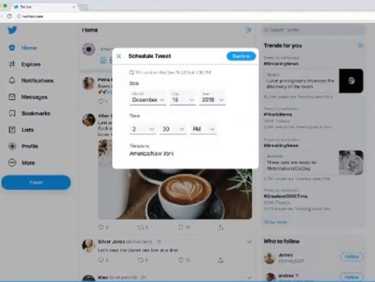 Ahora podrás programar tus mensajes desde Twitter sin ir a Tweet Deck