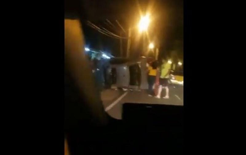 En video, impactante accidente en la vía Tocumen