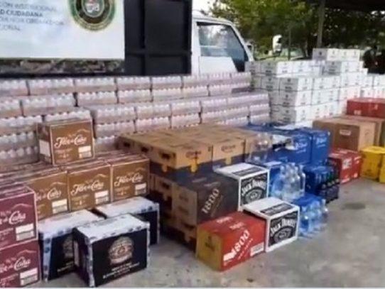 Decomisan más de 600 cajas de licor dentro de un camión con placa costarricense