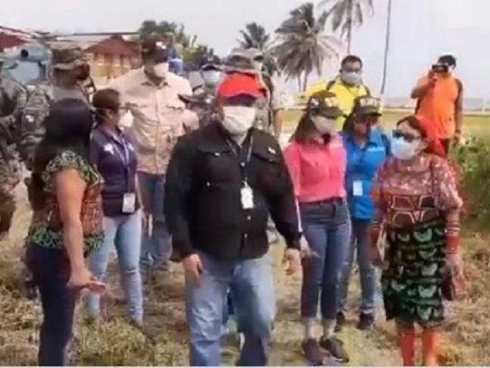 Autoridades de gobierno llegan a Guya Yala, buscan instalar centro de trazabilidad