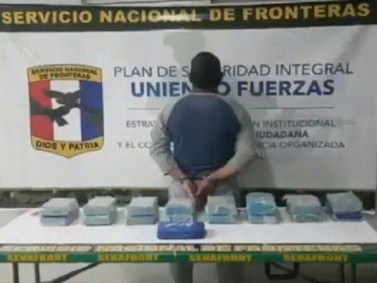 Una persona aprehendida por decomiso de paquetes de droga en Chepo