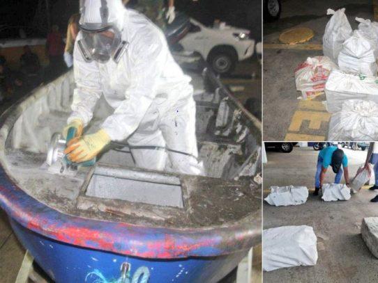 Senan incauta 165 paquetes de droga dentro de lancha en Capira