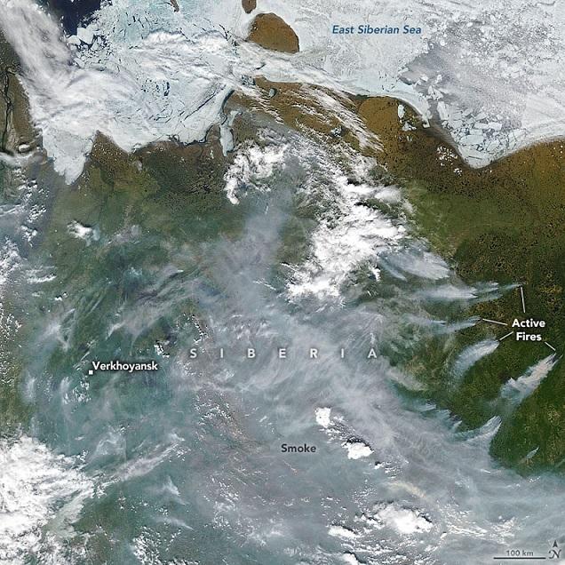 Una onda de calor histórica convierte a Siberia en un horno