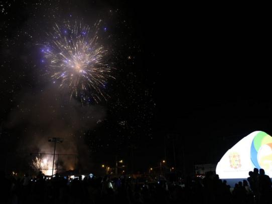 Tocumen celebró con luces los 500 años de la ciudad