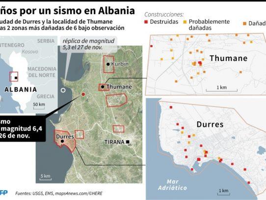 Albania pone fin a las operaciones de rescate tras el sismo que causó al menos 50 muertos