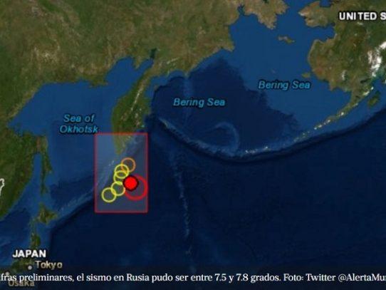 Fuerte sismo en las islas rusas de Kuriles