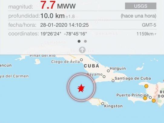 Sismo de 7.7 entre Cuba y Jamaica