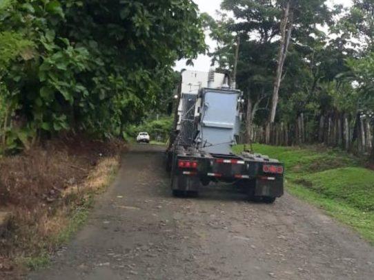 Llegó el transformador para la planta potabilizadora de Laguna Alta, Arraiján
