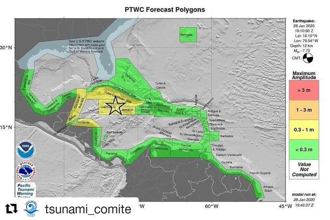 Protección Civil : No hay alerta de tsunami para el Caribe panameño