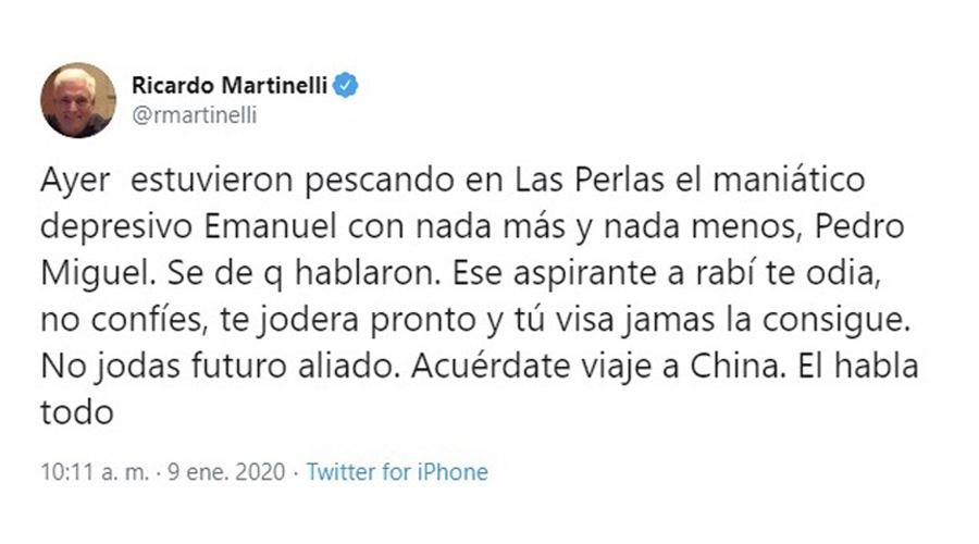 """Ricardo Martinelli dice que el PRD es su """"futuro aliado"""""""