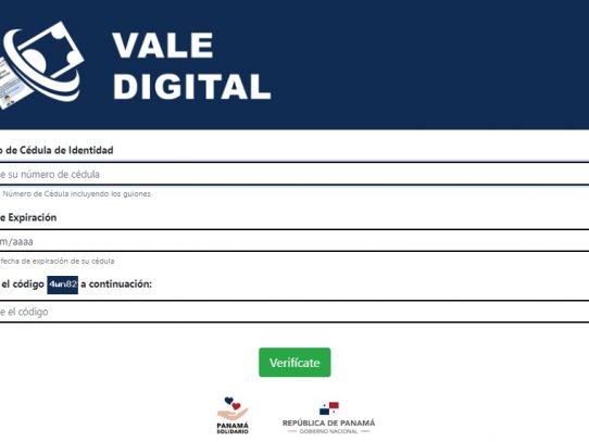 A partir de este lunes, 317 mil personas podrán hacer uso del Vale Digital