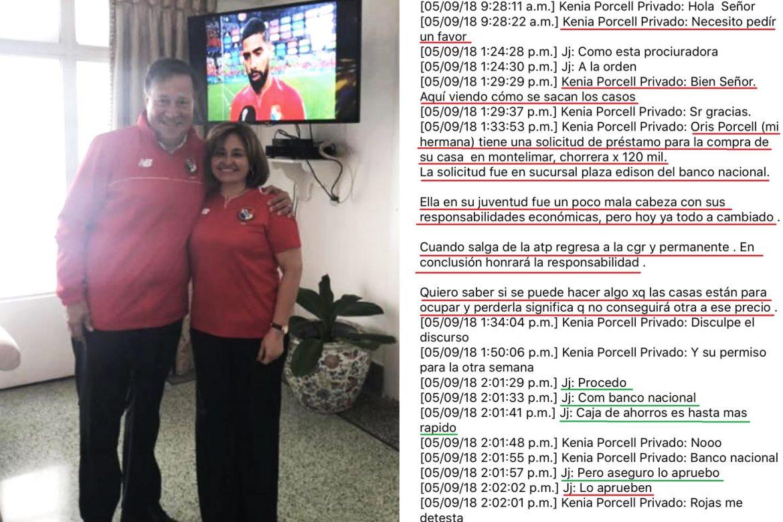 Porcell pedía favores personales a Varela, como un préstamo del Banco Nacional para su hermana