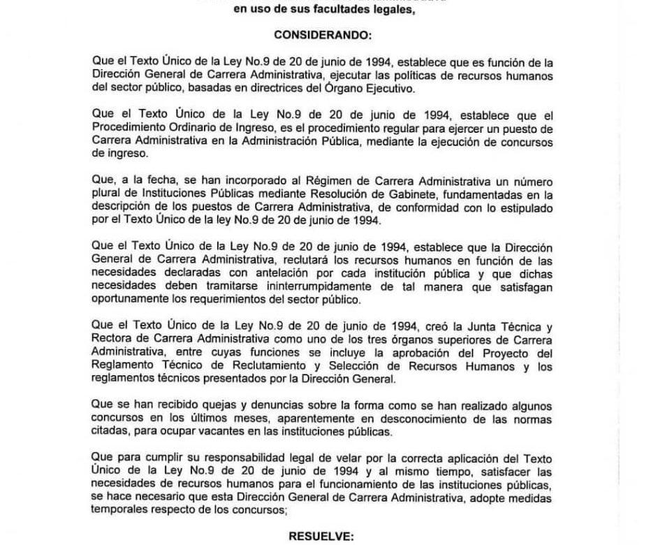 Gobierno de Cortizo autoriza nombramientos sin concurso
