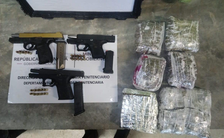 Decomisan armas de fuego y drogas durante día de visita en La Nueva Joya