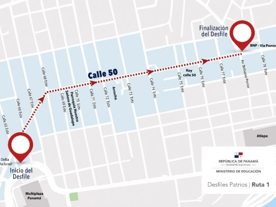 Modifican rutas de los desfiles patrios en Ciudad de Panamá